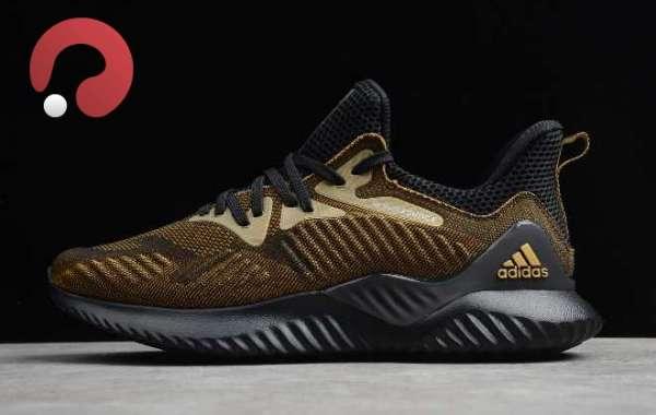 2020 adidas Alphabounce Beyond M Black/Metallic Gold CG4778