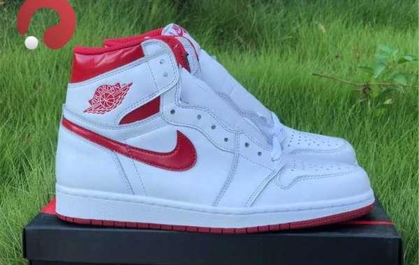 """Air Jordan 1 Retro High OG """"Metallic Red"""" For Men 555088-103"""