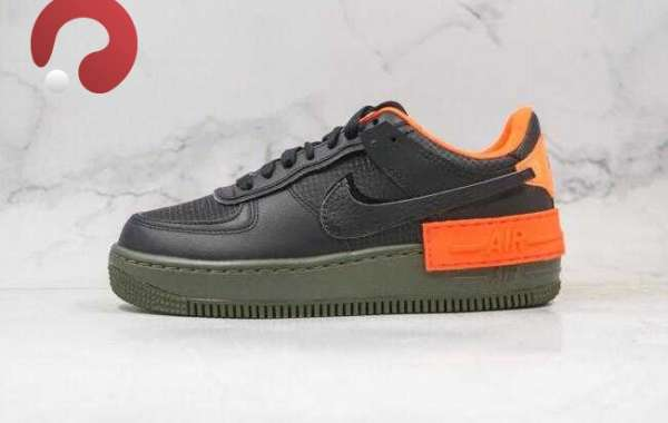 2020 Cheap Nike Air Force 1 Shadow Black Orange for Sale