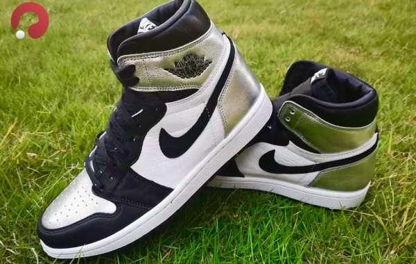 "2021 Nike Air Jordan 1 High OG WMNS ""Silver Toe"" Basketball Shoes CD0461-001"