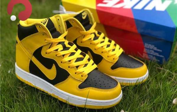 """New Nike Dunk High """"Varsity Maize"""" Black/Yellow Sneakers Hot Sale"""