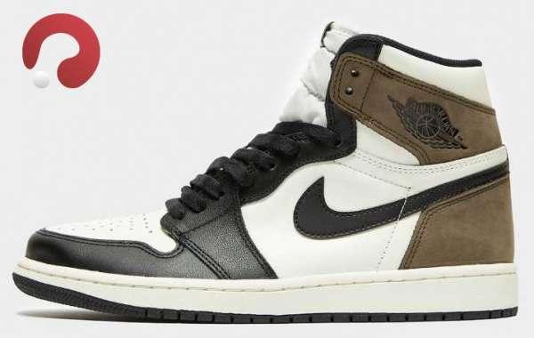 """2020 Air Jordan 1 High OG"""" Dark Mocha"""" Sneakers 555088-105"""