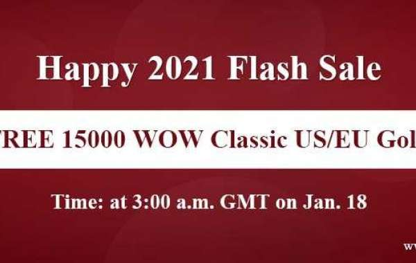 Snap Up Free 15000 wow classic us gold on Happy 2021 Flash Sale Jan 18