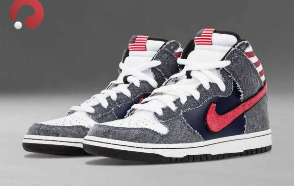 "Latest 2021 Nike Dunk High Premium SB ""Born In The USA"" 313171-100"