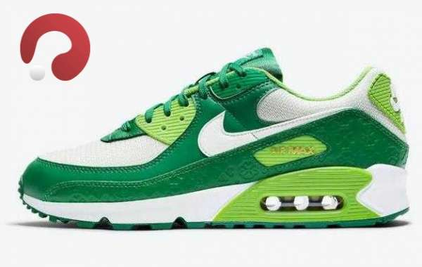 2021 Nike Air Max 90 St. Patrick's Day White Green is Available Now