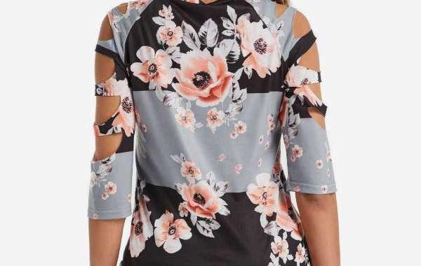 Polka Dot Self-Tie Long Sleeve Plus Size Tops