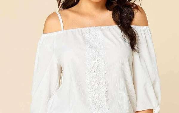 Round Neck Floral Print 3/4 Sleeve Flounced Hem Khaki Plus Size Tops