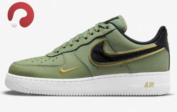 2021 Nike Air Force 1 Low Olive Releasing With Double Swoosh