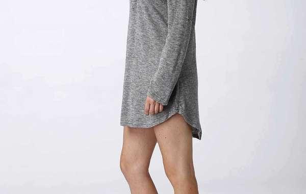 V-Neck Cold Shoulder Irregular Hem Tan T-Shirts