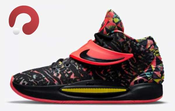 """2021 New Nike KD 14 """"Ky-D"""" Floral Red Black CW3935-002 Sell cheap!"""