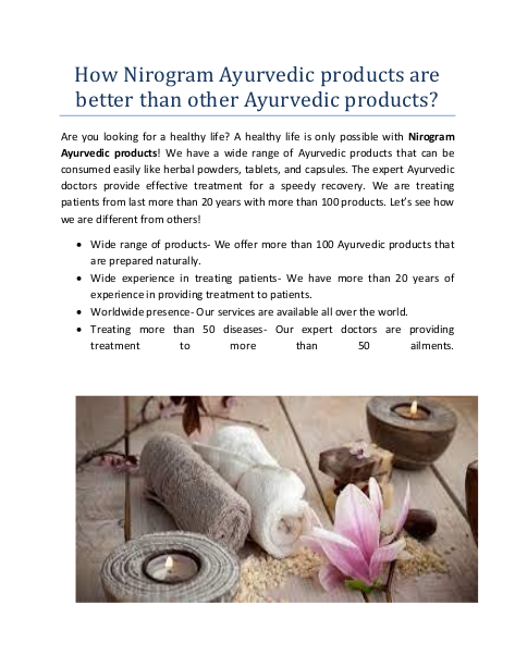 How Nirogram Ayurvedic products are better than other Ayurvedic products?